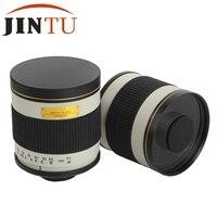 Branco jintu 500mm f/6.3 mf telefoto lente do espelho para uma montagem sony alpha dslr câmera com adaptador t2 livre + 2 anos warratny|telephoto mirror lens|lens for sonylens for sony alpha -