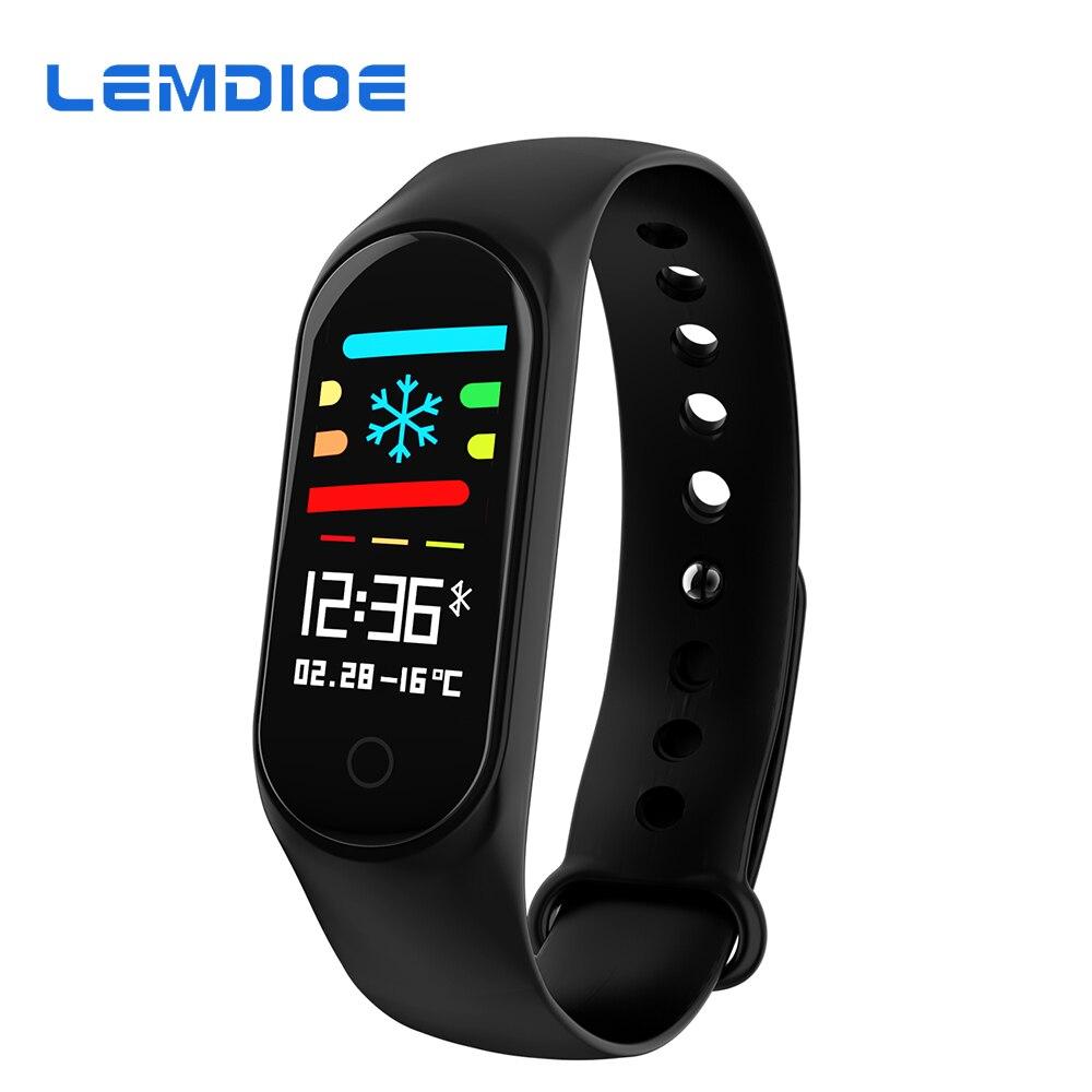 LEMDIOE Sport Fitness pulsera IP67 impermeable 0,96 pulgadas pantalla a Color presión arterial banda de oxígeno 3 para Xiao mi 20 días de espera