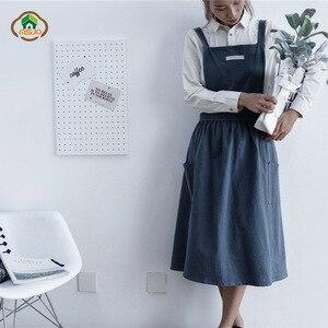 MSJO Vestito Grembiule Da Cucina Delle Donne del Cotone Giapponese Pasticceria Chef Grembiule Annata di Cottura Barista di Arte Adulti Donna Giardiniere Pittura Grembiule