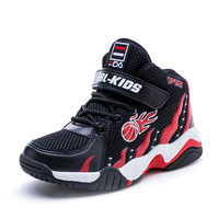 Basketball Shoes Kids Black Sport Shoes 2018 Breathable Mesh Boy Sneakers Male Children's Shoes Autumn Girls Tennis Sneakers