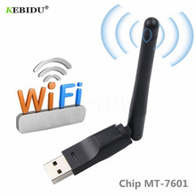 Kebidu USB 2,0 WiFi tarjeta de red inalámbrica 150 M 802,11 b/g/n adaptador LAN con antena giratoria para ordenador portátil Mini WiFi Dongle(China)
