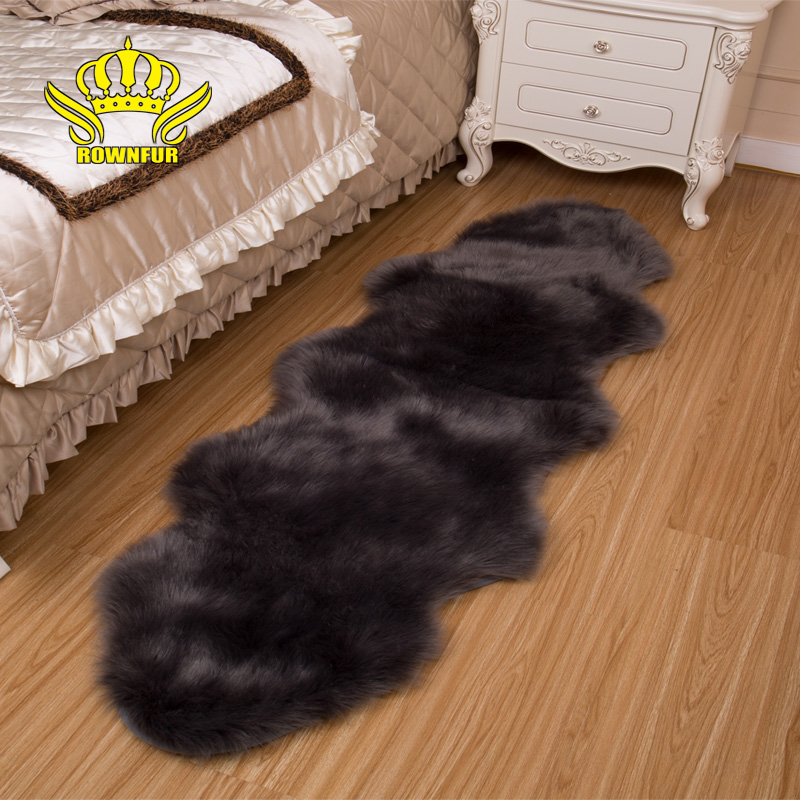 ROWNFUR Soft Sheepskin Carpet For Living Room Kids  Washable Seat Pad Covers Fluffy Hairy Wool Area Rugs Bedroom Floor Mat 180CMROWNFUR Soft Sheepskin Carpet For Living Room Kids  Washable Seat Pad Covers Fluffy Hairy Wool Area Rugs Bedroom Floor Mat 180CM