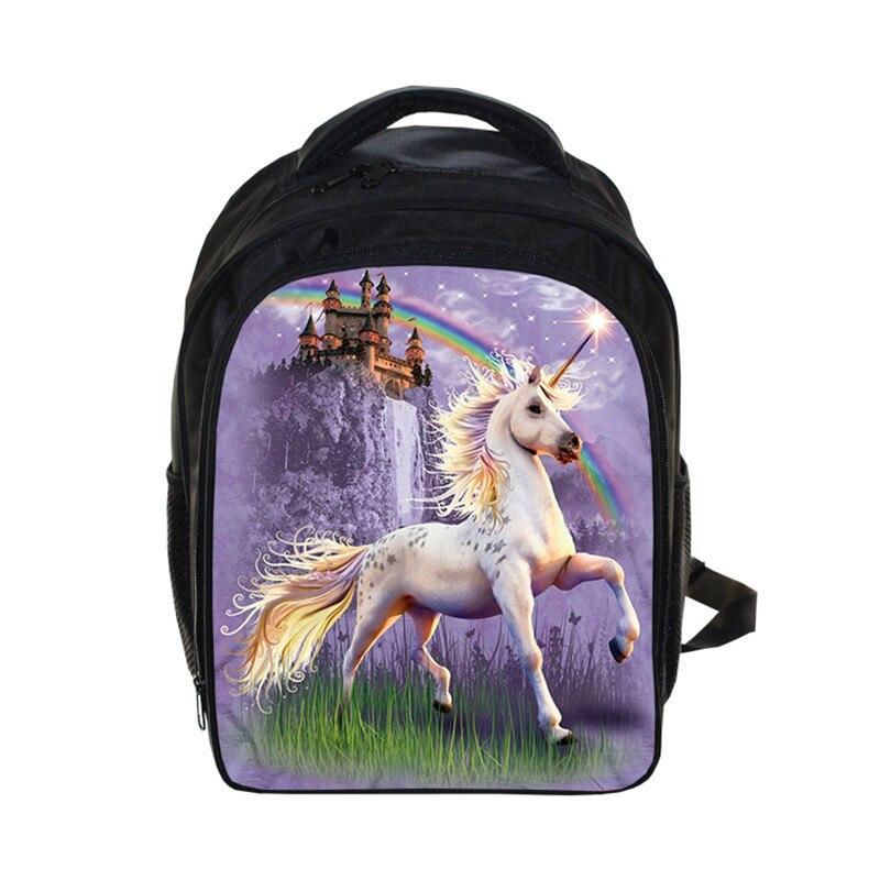 Fantastic Beasts Unicorn Kindergarten Backpack Animal Horse Children School Bags Boy Girls Cartoon School Backpack Kids