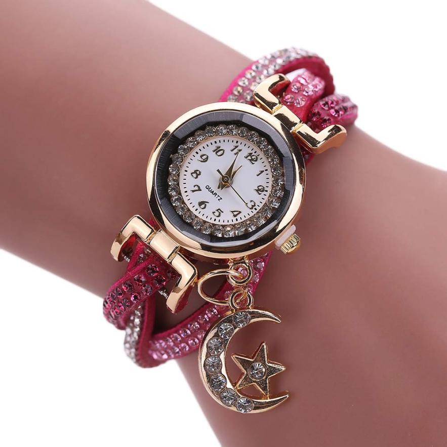 Hot 2017 High Quality Women Crystal Band Wave Bracelet Dial Quartz Analog Wrap Wrist Watch LEVERT DROPSHIP m5224
