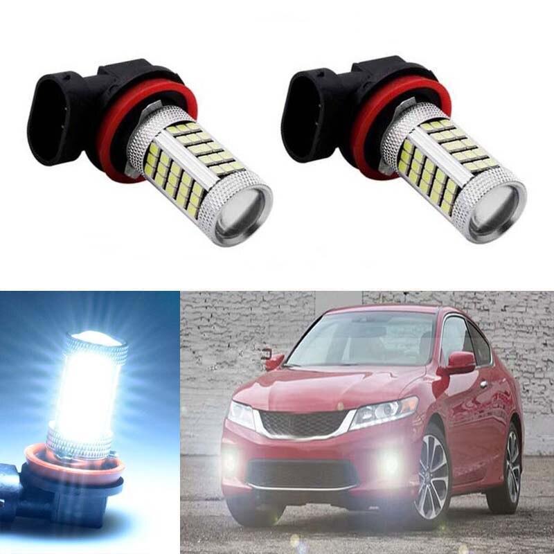2pcs Car Led H11 2835 66SMD Light Bulb Auto Fog Light Driving Lamp Light For Mitsubishi