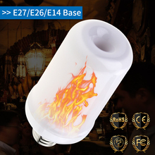 LED Flame Effect Bulb E27 Fire Lamp 3W 5W 9W E26 Dynamic 220V E14 Flickering Emulation Creative Burning Light 110V