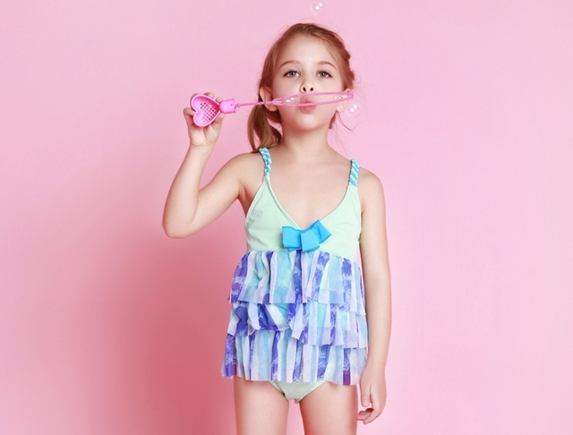 fae90b1db4612 2015 rainbow princess cute toddler one piece frozen swimsuit for girls  swimwear child swimming costume baby