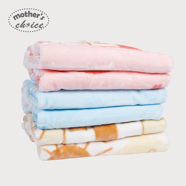 Mother's Choice winter baby blanket cartoon print baby thickening woollen blanket for 3-36M Free shipping