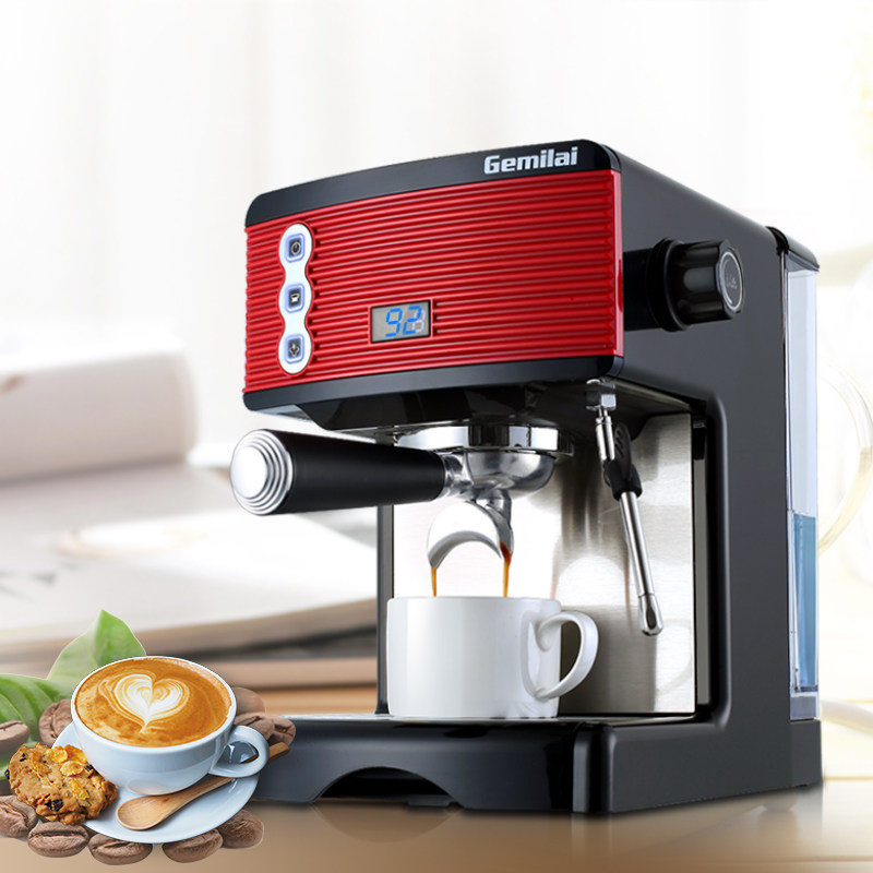 NEW Household Semi-automatic Espresso Coffee Machine 15 Bar Steam Commercial Coffee Maker free shipping the espresso machine use commercial semi automatic instant steam double charged coffee machine