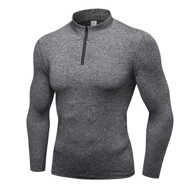 Sweater Long-Sleeved Bike Compression Outdoor Stretch Fitness Riding Men Tops Quick-Drying
