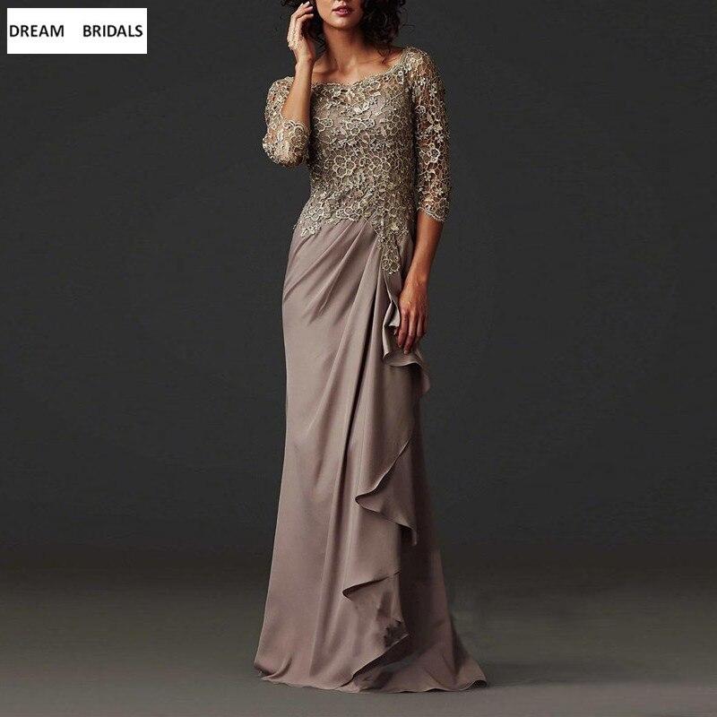 High Quality A-Line Lace Mother Of The Bride Dresses Plus Size For Weddings Half Sleeve Rihanna Vestido De Madrinha