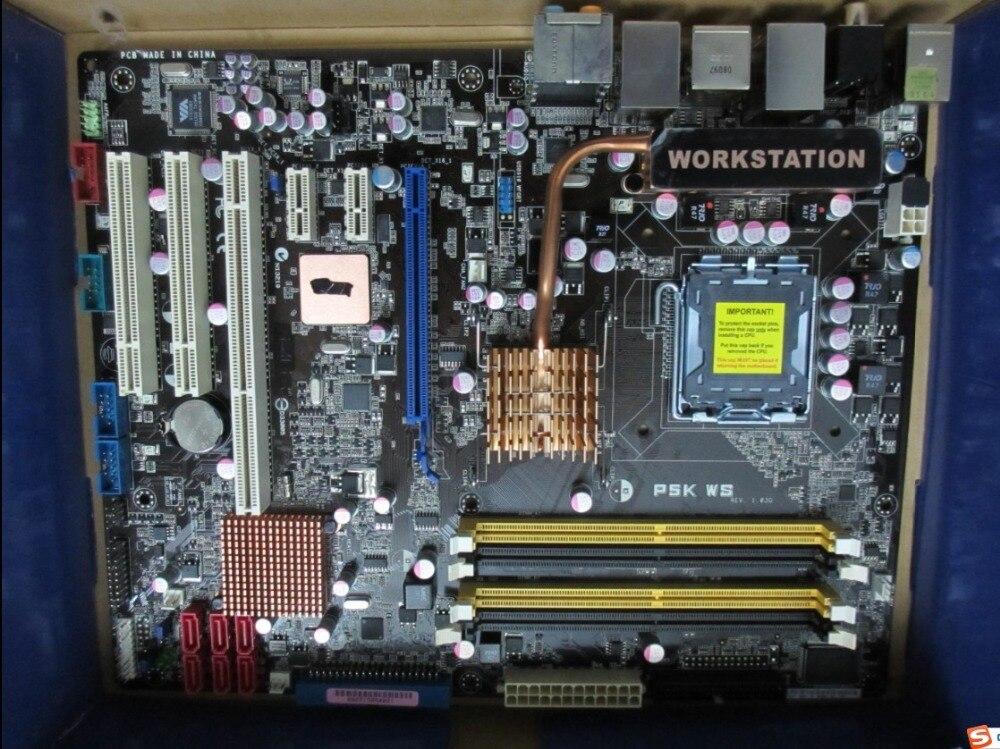 Free shipping 100% original motherboard for Asus P5K WS LGA 775 DDR2 Desktop motherborad Solid state power supply asus original motherboard g31m3 l v2 g31 ddr2 lga 775 desktop motherboard