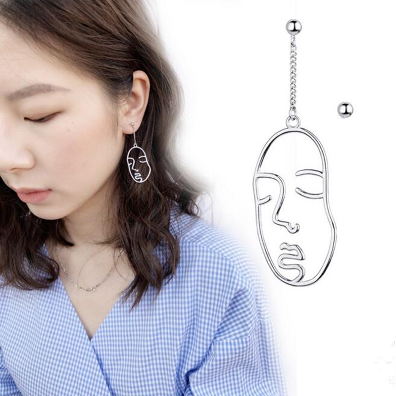 1pair Korea face Titanium Steel BTS Earrings For Women Kpop BTS Album Earrings Men Jewelry Brinco ...