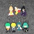 7 unids/lote 7-9 cm Anime Lindo UN GOLPE HOMBRE Saitama Sensei PVC Figuras Coleccionables Juguetes Mini Llavero Colgantes