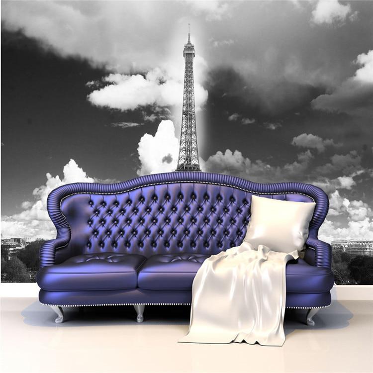 ... Vintage Wall Mural Wallpaper Eiffel Tower Photo Wallpaper Poster Room  Decor Murals Interior Art Decoration Bedroom ...