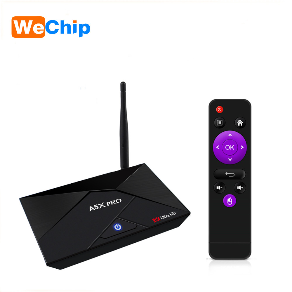Wechip A5X PRO Android 7.1 TV BOX RK3328 Quad-Core 2G+16G Media Player Support 5G+2.4G Wifi 4.0 Bluetooth 4K DH Set Top Box tx5 pro android box 2g 16g bluetooth dual wifi smart media player hd 4k codi 16 1 quad core set top tv box