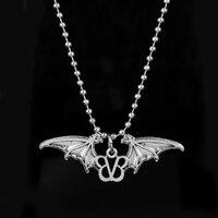 Großhandel Männer Punk Schmuck Music Band Black Veil Brides Halsband Halskette Rock Band BVB Logo Mit Fledermausflügel Anhänger Halskette