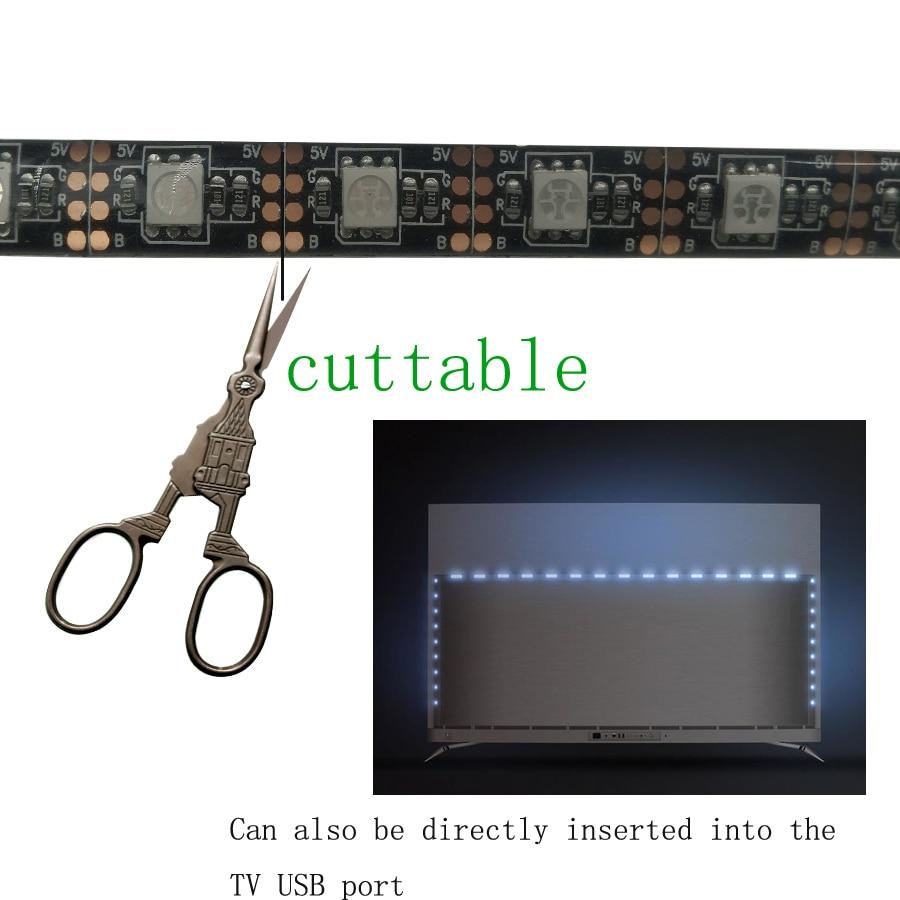 Tiras de Led iluminação de fundo tv com Geração de Energia : Mudar