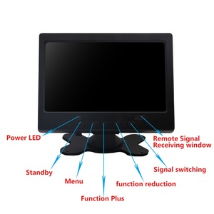 """Image 3 - 7"""" LCD Touch Monitor for Raspberry Pi HDMI+VGA+AV Interface Display Capacitive Touch Screen Module Car Backup Reverse"""