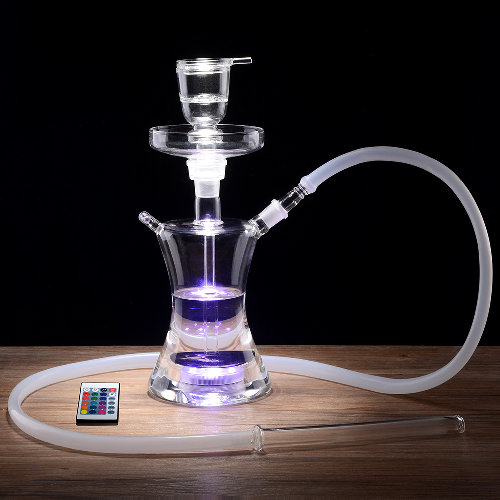 Complete Set with Multicolor LED Light Smoking Water Pipe