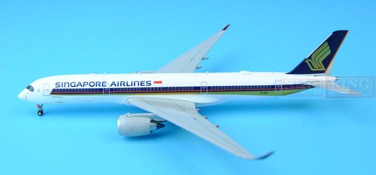 Wings JC Singapore Airlines Spike: 1:200 A350-900 commercial jetliners plane model hobby