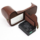 Black/Coffee/Brown/White High Quality PU Leather Half Camera Bottom Case Bag Cover For Canon 200D EOS 200D Battery Open Case