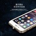 "7 Além de Moldura De Alumínio de Luxo Phone Cases Para iPhone 7 Plus 5.5 ""caso Moda Bling Do Diamante Coroa de Strass Brilho Metal Bumper"