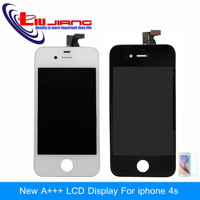 Calidad original lcd pantalla táctil digitalizador asamblea del capítulo para el iphone 4s 4 4g reemplazo envío gratis