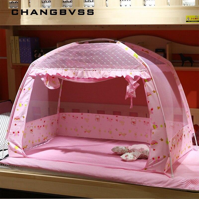 Rosa portátil bebê crianças inseto rede mosquito malha berço do bebê dossel cama mosquiteiros verão cama do bebê berço mosquito tenda