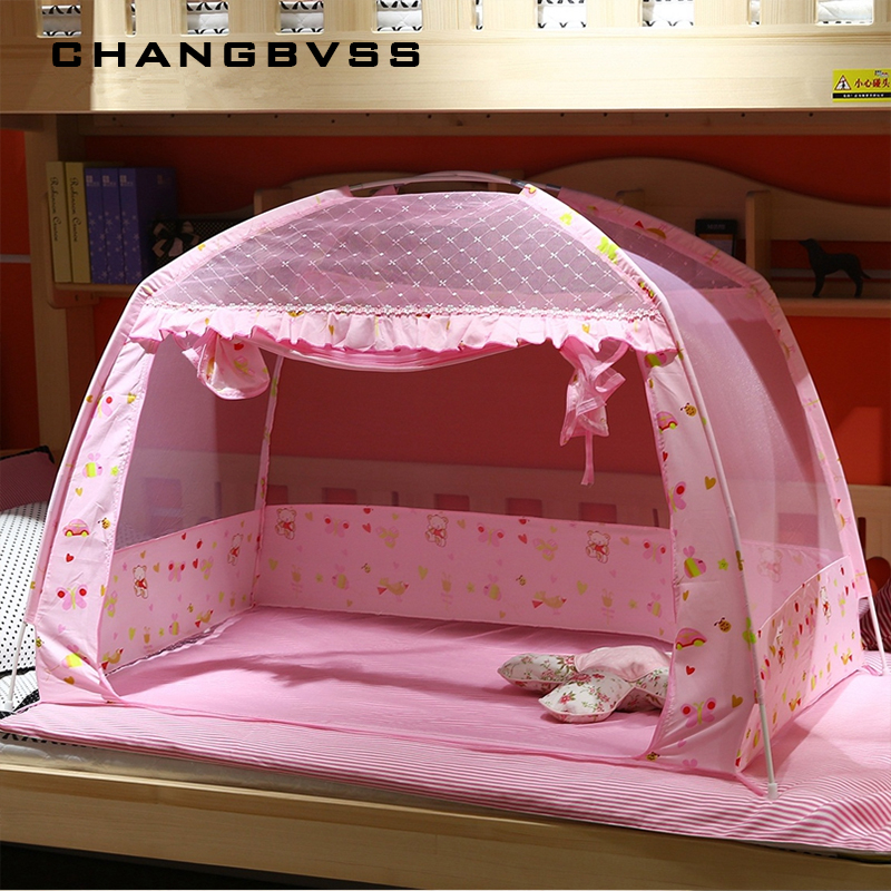 Pink Portable Baby Infants Insect Netting Mosquito Mesh Baby Cradle Canopy Bed Mosquito Nets Summer Baby Bed Crib Mosquito Tent 3pcs set pink baby bedding crib netting folding baby music mosquito nets bed mattress pillow baby crib for baby bed accessories