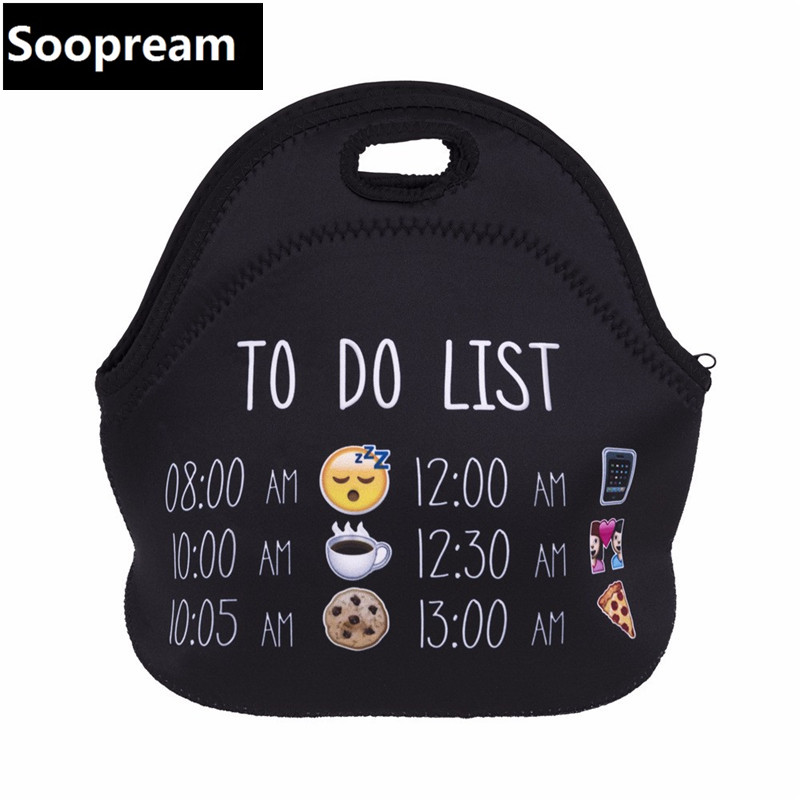 3d print HAKUNA Kids Insulated for women portable Waterproof Lancheira Thermo Thermal Insulated Neoprene Cooler bag