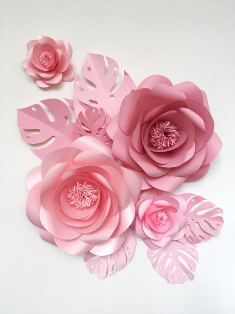 Online Shop 23 Giant Paper Flowers 4 Butterfly 7 Leaves For