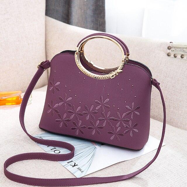 1d7157a1872 Women messenger bags new spring summer 2018 inclined shoulder bag women s  leather handbags Bag ladies hand bags LongYue