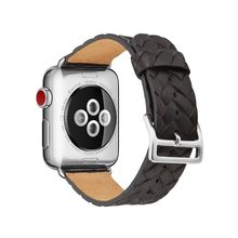 Analog Braids Style Band For Apple Watch Strap 38mm 42mm Bracelet For iWatch Watchband 40mm 44mm Series 1 2 3 4 Genuine Leather(China)