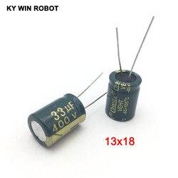 Capacitor eletrolítico de alumínio, capacitor eletrolítico de alumínio 33 uf 400 v 13*20mm 110-eléctrico radial