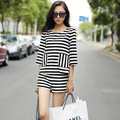 New Fashion Women's set,High -quality stripes Ladies' pants suits Free Shipping S20264