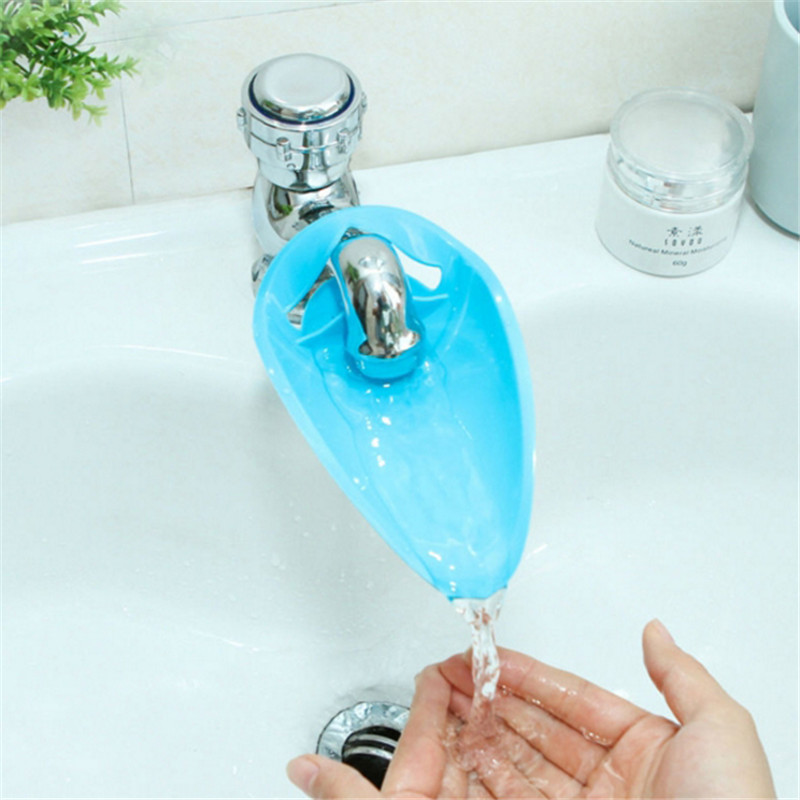New Arrive Baby Faucet Extender Cute Shape Baby Kids Hand Washing Sink Gift Silicone Faucet Extender
