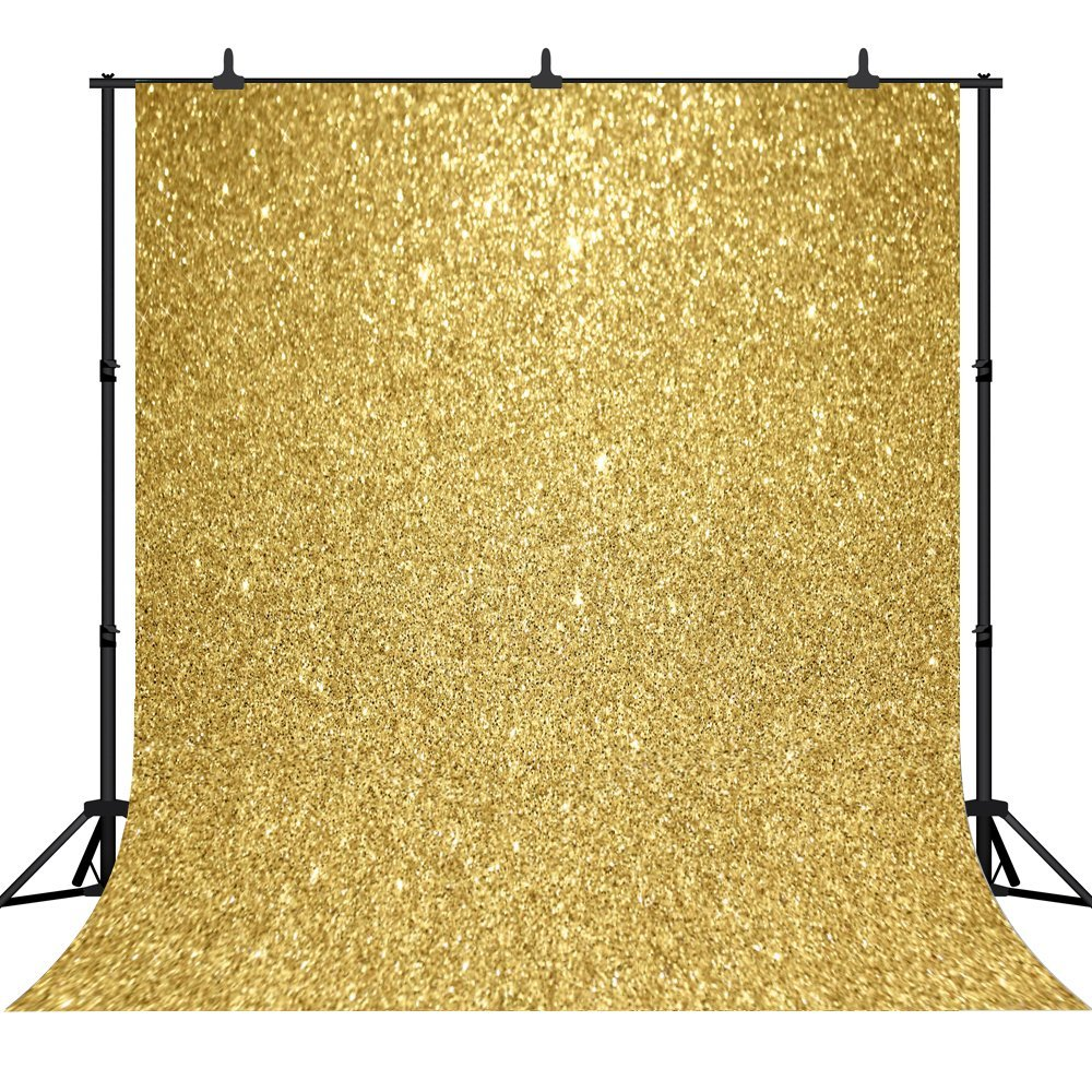 CapiSco Seamles Golden Glitter Sequins Glittering Gold photo studio background Vinyl cloth High quality printed wedding backdrop seaside beach white clouds and blue sky photo backdrop high grade vinyl cloth computer printed wedding backgrounds