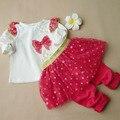 Lentejuelas Polka Dot Baby Girl Clothes Suit Niños Arco Superior y Sistema de la Ropa Muchachas Del Niño Princesa falda Pantalón 2 Unidades Outifits