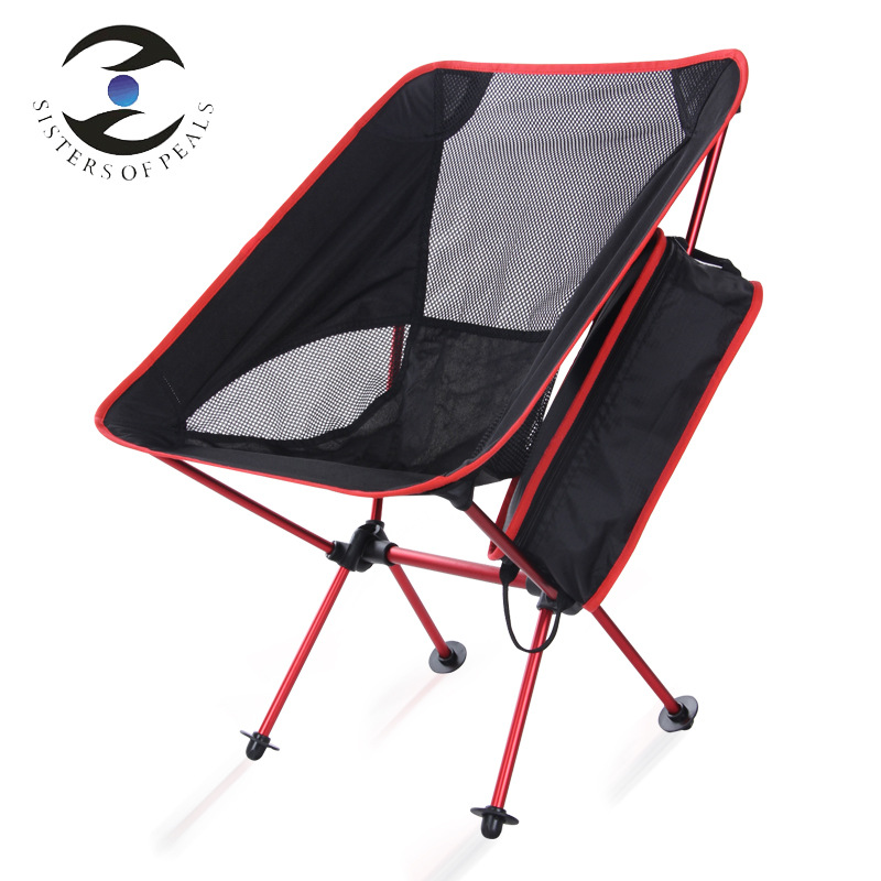 KY05 Outdoor camping folding chair portable moon chair ultra light aluminum alloy fishing chair 600D Oxford cloth Bearing 150kg folding beach chair ultralight folding camp chair moon chair breathable mesh fishing chair 600d oxford cloth aluminum alloy