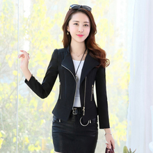 Women 2020 Spring Autumn New Long Sleeve Blazers female Solid Color Slim Short Z