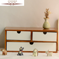 STAYGOLD Antique Imitation Wooden Storage Box Wood Decoration Enfeites Para Casa Artesanato Em Madeira Minimalist Decor