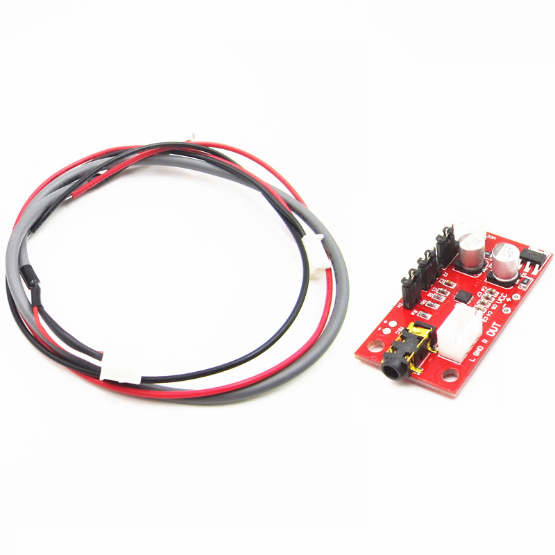 1PCS MAX9814 DC 3V-12V Electret Microphone Amplifier Board with AGC Function+Cables