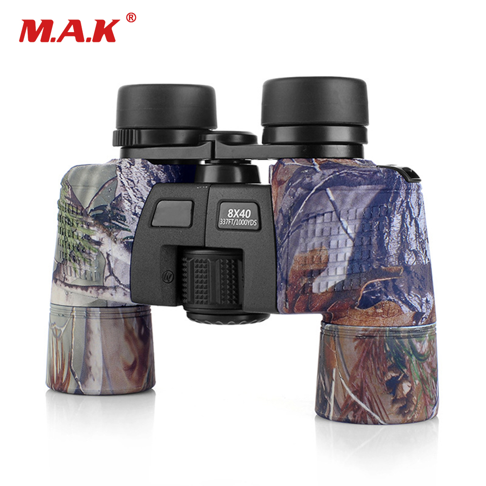 High Quality 8x40 10x50 Binocular Military Camo Telescope Waterproof FMC Blue Film Coated Optical Len for
