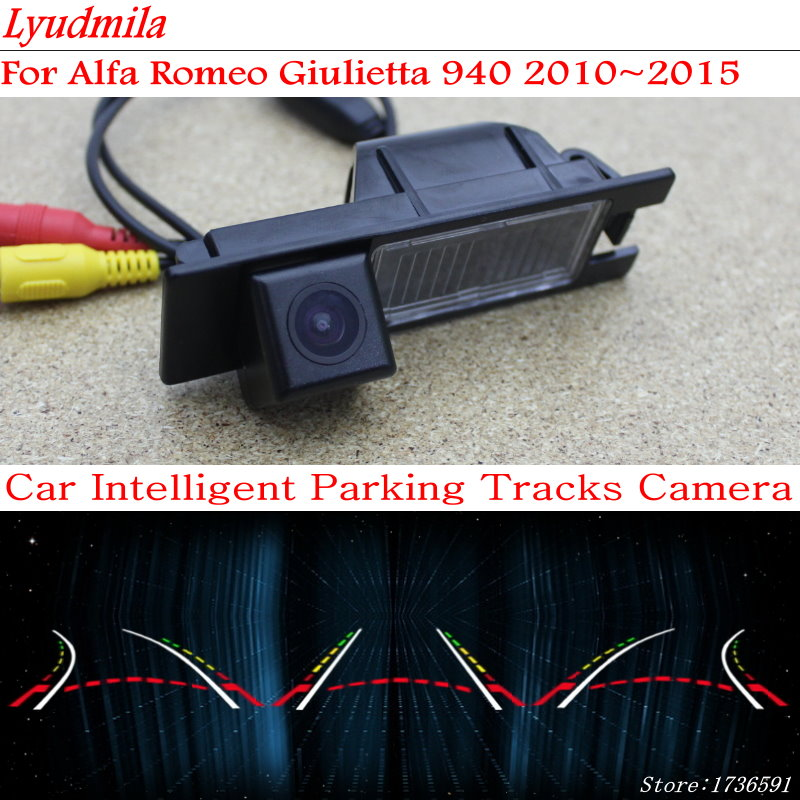 Car Intelligent Parking Tracks Camera FOR Alfa Romeo Giulietta 940 2010 2015 HD Back up Reverse