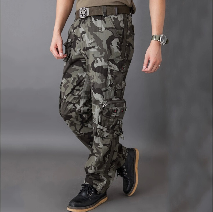 select for original the cheapest modern techniques Mens Pants Multi Pockets Army Green Tactical Army Fatigue ...