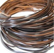 70 meter (500g) Breite: 8mm Kaffee Gradienten Flache Synthetische Rattan Weben Material Kunststoff Knit Reparatur Stuhl Tisch PE Rattan