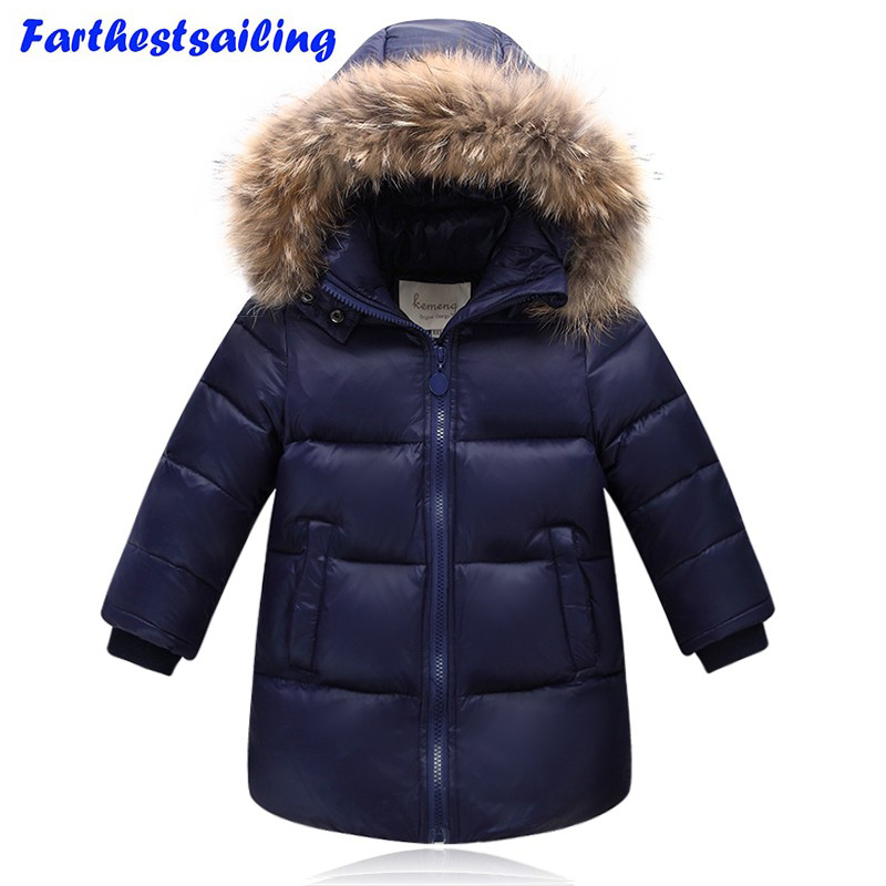 Children Winter Jackets For Boys Girls Duck Down Parkas Kids Winter Outerwear Coat Thicken Warm Clothes Baby Girls Boys Clothing korean baby girls parkas 2017 winter children clothing thick outerwear casual coats kids clothes thicken cotton padded warm coat