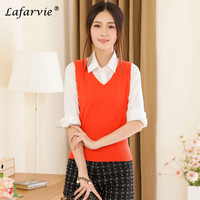 Lafarvie 2016 Spring New Women S Clothing Cashmere Blend Long Vests Women Winter Outerwear Female Turn