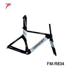 Полностью карбоновая велосипедная Рама 54 см tt Рама с топовым логотипом покраска Время пробная карбоновая рама FM-R834